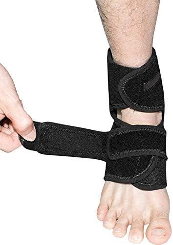 足首サポート、足首支柱圧縮サポートスリーブW/無料足首ストラップアキレス腱サポート、靭帯損傷のための足首サポート