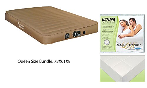 Inflatable Guest Mattress Sofa Queen Size Air Mattres for RV Sofa Bed Guest and Sofa Mattress With Ultima Sleeper Sofa Mattress Protector Pad Queen Size Easy To Set Up Automatic Inflate and Deflate ()