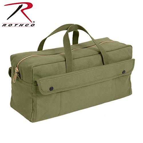 Rothco Canvas Jumbo Tool Bag with Brass Zipper, Olive Drab