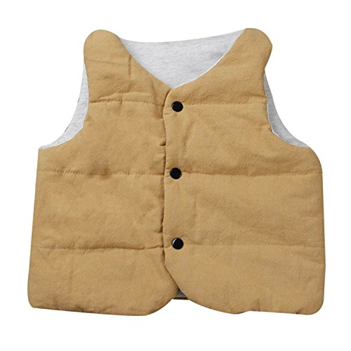 Price comparison product image Baqijian Infant Girls Vest Jackets Outerwear Coats Autumn Winter Children Girl Kids Baby Warm Waistcoat Vest Gold 5