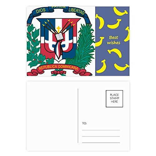 Dominican Republic National Emblem Country Banana Postcard Set Thanks Card Mailing Side 20pcs