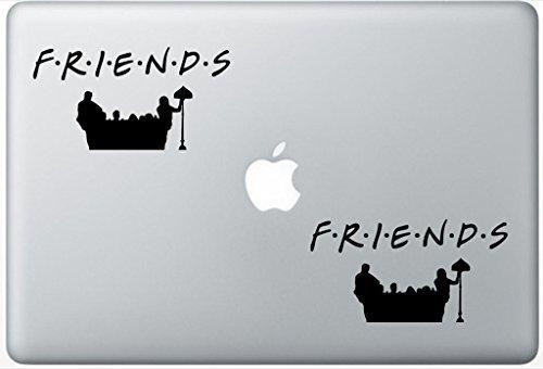 Friends Decal Set - Friends Logo FlashDecals3455 Set Of Two (2x) , Decal , Sticker , Laptop , Ipad , Car , Truck