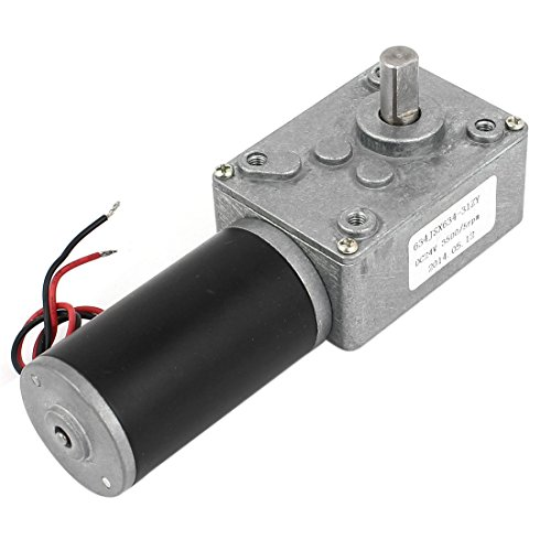 uxcell dc 24v 5rpm high torque turbine worm gear box motor