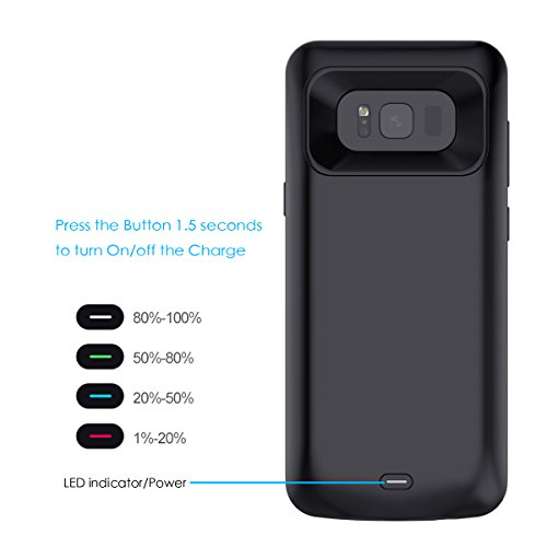 samsung galaxy s8 battery case moonmini ultra slim 5000mah rechargeable external portable. Black Bedroom Furniture Sets. Home Design Ideas