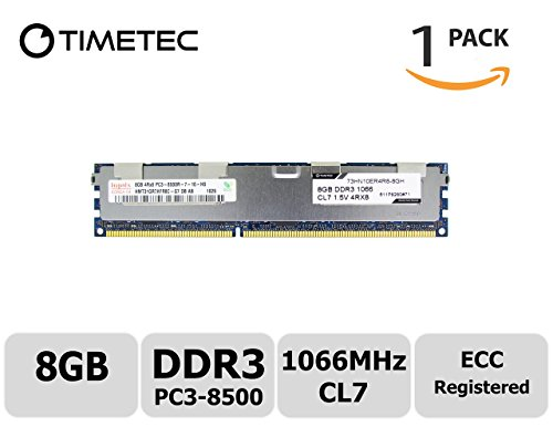 Mhz 1066 Desktop Ram (Timetec Hynix 8GB DDR3 1066MHz PC3-8500 Registered ECC 1.5V CL7 4Rx8 Quad Rank 240 Pin RDIMM Server Memory Ram Module Upgrade (Server Only, Not for Desktop/Laptop) (8GB))