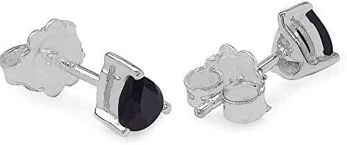 Silvancé - Women's Earrings - 925 Sterling Silver - Genuine Gemstone: Sapphire - E1238S