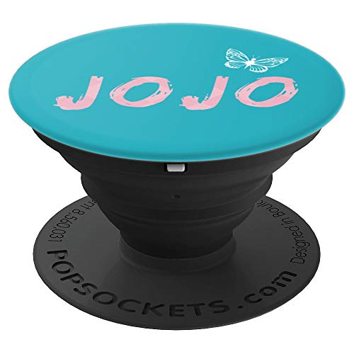 Cute fun gift for any JoJo you know with white butterfly - PopSockets Grip and Stand for Phones and Tablets