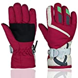 YR.Lover Children Ski Gloves Winter Warm Outdoor Riding...