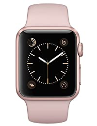 apple MNNY2LL/A Watch Series 2, 38mm Rose Gold Aluminum Case with Pink Sand Sport Band