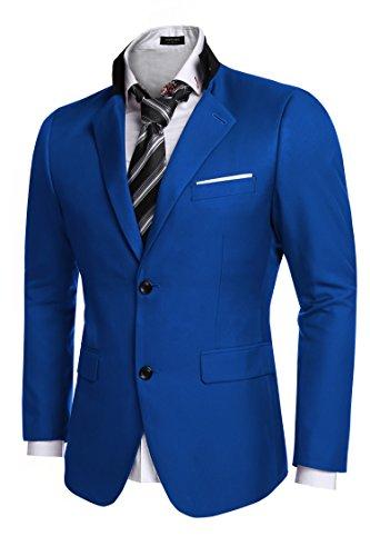 Coofandy+Men%27s+Casual+Dress+Suit+Slim+Fit+Stylish+Blazer+Coats+Jackets%2C+Size+X-Large%2C+Blue