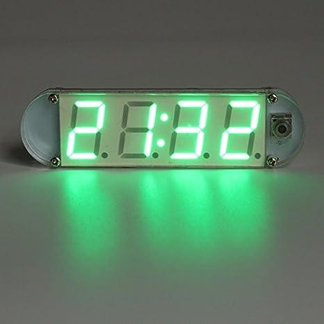 DIY Electronic Clock Kit Digital Blue LED Clock Set With Acrylic Shell ATMega328