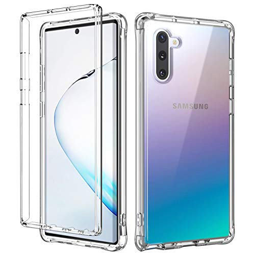 SKYLMW Case for Galaxy Note 10,Dual Layer Shockproof Hybrid Soft TPU & Hard Plastic High Impact Protective Cover Cases fit Galaxy Note 10 2019 for Women/Men/Girls/Boys,Clear