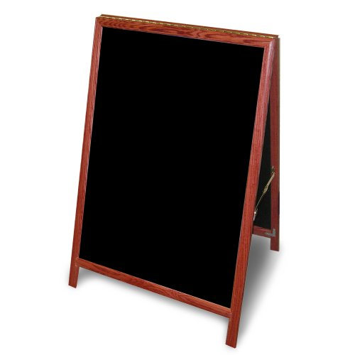 ComeAlong Industries Solid Oak A-Frame Chalkboard with Warm Cherry Finish, 24'' x 29'' by ComeAlong Industries