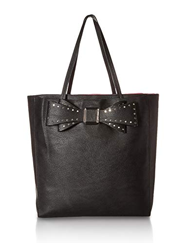 Betsey Johnson Women's Stud Bow Structured Tote Black One Size (Betsey Johnson Totes Black)