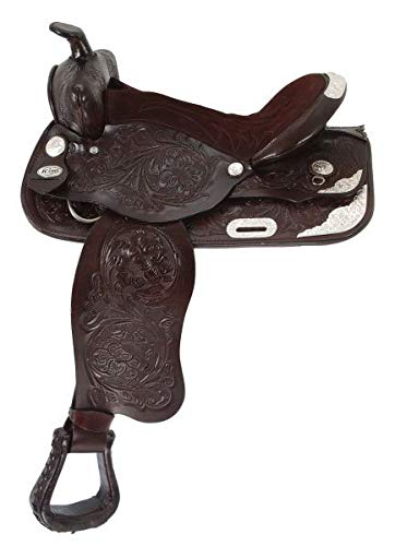 King Series Show King II Saddle Package with Silver Pkg - Light Chestnut - 17