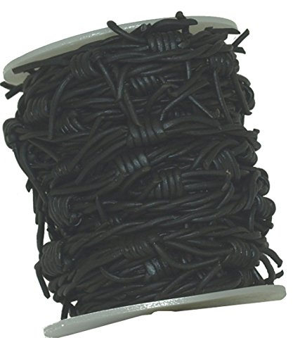 Barbed Wire Leather Cord 10 Meters Spool (Black)