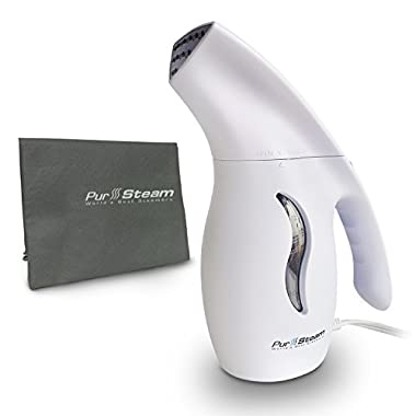 PurSteam Premium Fabric Steamer, Powerful, Fast-Heat Aluminum Heating Element With Travel Pouch