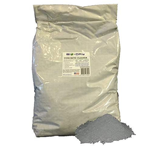Bio-Dry Patented Waterless Concrete Cleaner | Cleaning Agent & Degreaser for Oil & Gasoline Stains | Protect Concrete Or Cement Pads from Automotive & Other Engines & Industrial Oil & Grease | 45 Lbs