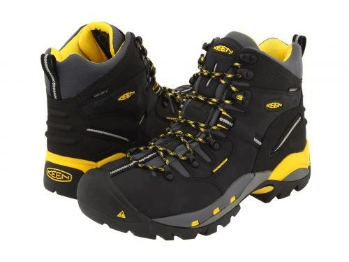 Keen Utility(キーン) メンズ 男性用 シューズ 靴 ブーツ 安全靴 ワーカーブーツ Pittsburgh Boot Black/Yellow [並行輸入品] B07BMJSMPC 8.5 D Medium