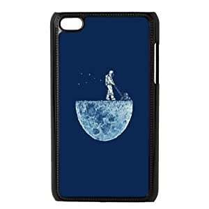 Ipod Touch 4 Cases, Men Design Astronaut Mowing the Moon Cases For Ipod Touch 4 {Black}