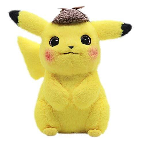 (Detective Pikachu Pokémon Plush Stuffed Animal Toy (11 inch))