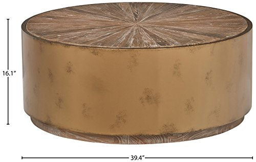 Stone & Beam Hillside Antiqued Coffee Table, 39.4'' D, Wood and Bronze by Stone & Beam (Image #6)