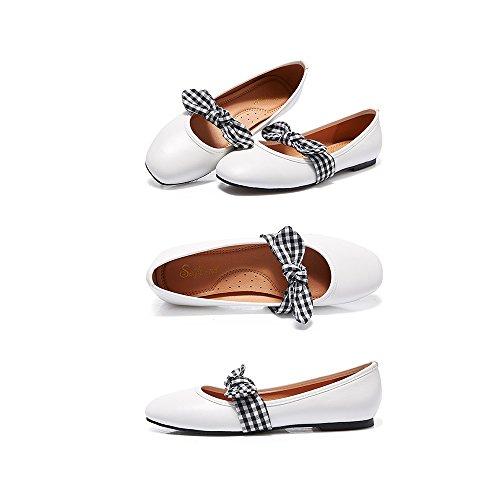 Profunda Poco Planos Zapatos Boca Zapatos Uk3 De Mujer Blanco EU36 Sandalias Cómodo Mariposa Verano Nudo Literatura Primavera Femeninas Color Zapatos YQQ De 5 Salvaje Arte Negro Y Tamaño w7vq0dxP