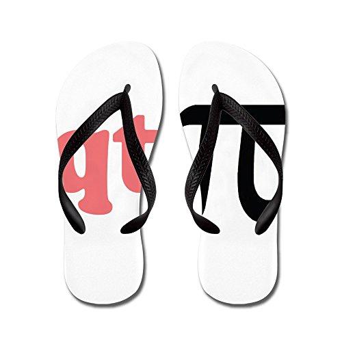 Cafepress Math Humor Qt Pi - Flip Flops, Grappige String Sandalen, Strand Sandalen Zwart