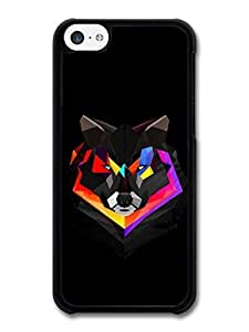 MMZ DIY PHONE CASEAMAF ? Accessories Abstract Colour Wolf With Black Background Illustration case for iphone 5/5s