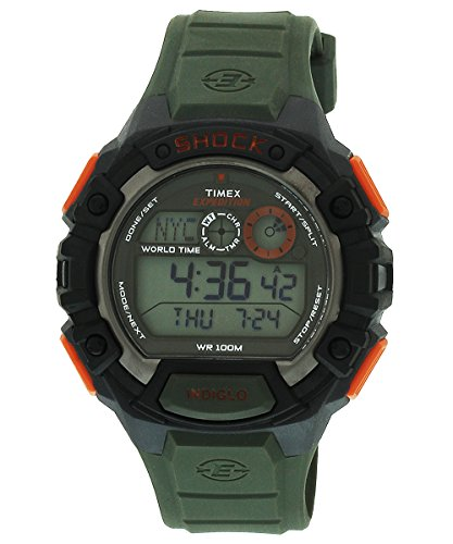 (Timex Men's  T49972 Digital Quartz Expedition  Global Shock Green Watch)