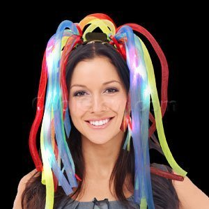 (WG Toys Amazing Led Light Up Party Dreads - Multicolor, Absolutely Amazing Party Headbands Product, Great for A Variety of Events Including Parties, Fun Hair Accessories, with)