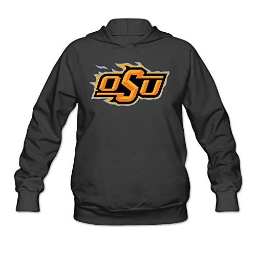 AUSIN Women's Oklahoma State University Hoodies Black Size S