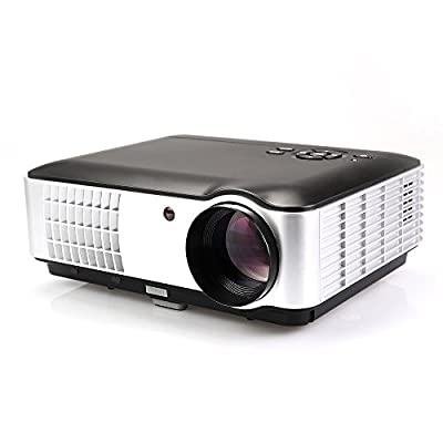 Flylinktech RD-806A HD 2800 Lumens Led Projector 1080P 1280x800 for Home Theater Business Presentation Video Games TV Movie With HDMI VGA USB AV