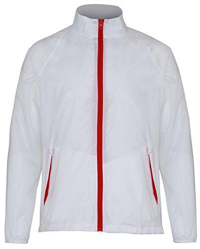 Légère Rouge Contraste Veste Veste Légère Blanc Blanc Rouge Contraste YqT8xT