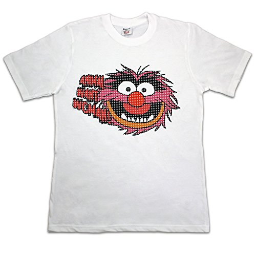 Character Mens' Muppets White Animal T-Shirt Small