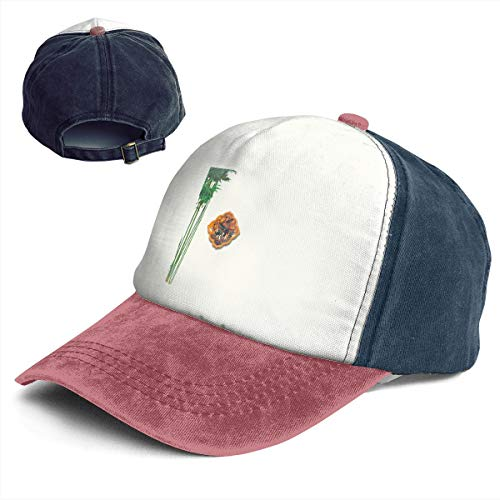- Ancient Chinese Bamboo Forest Nameplate Women Girls Adult Dad Trucker Distressed Denim Hat Cap