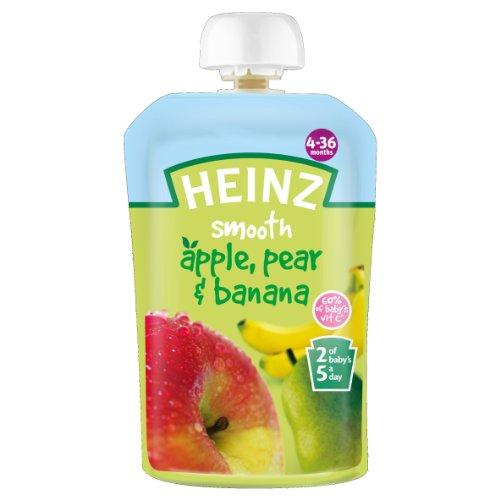 Heinz Weight - Heinz Smooth Apple, Pear & Banana 4-36 Mths 100g - Pack of 6