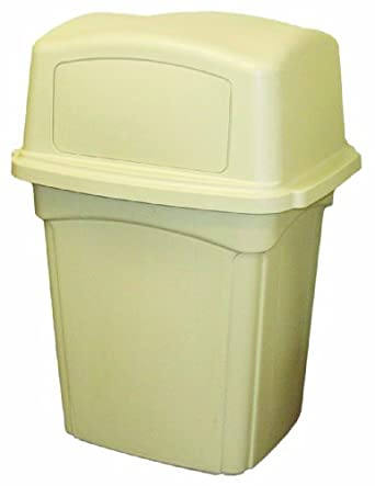 Continental 6452BE Beige Colossus Receptacle with Two Doors 45 gallon Capacity 30-  sc 1 st  Amazon.com & Continental 6452BE Beige Colossus Receptacle with Two Doors 45 ...