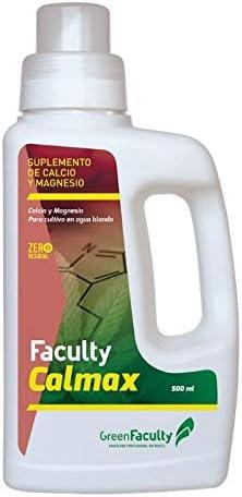 GreenFaculty Abono Fertilizante. Faculty CALMAX: Calcio Y MAGNESIO. SUPLEMENTO Cultivo EN Agua Blanda. Líquido 500 mL. Cero Residuos, Apto para Cultivo Medicinal