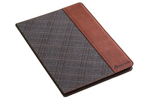 Free iPad Air 2 case Case-Holder Stand Cover - Grey Plaid/Brown