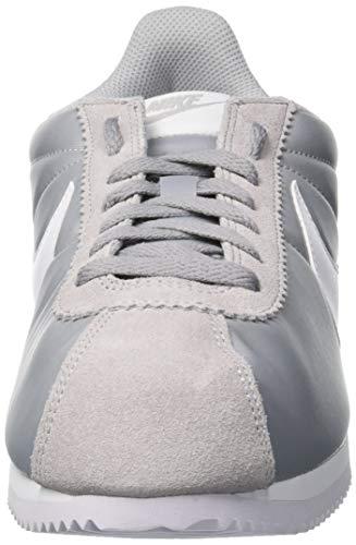Blanco Nylon pour Multicolore Grey Classic Gris Baskets Wolf Homme Nike Cortez White 6T8qnE