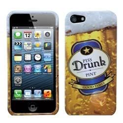 MYBAT Piss Drunk Beer Mug Phone Protector Cover compatible with Apple iPhone 5/5s