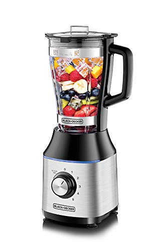 Black+Decker 700W High Speed Premium Blender, with Glass Jar Black/Silver - BX650G-B5 , 2 Years Warranty