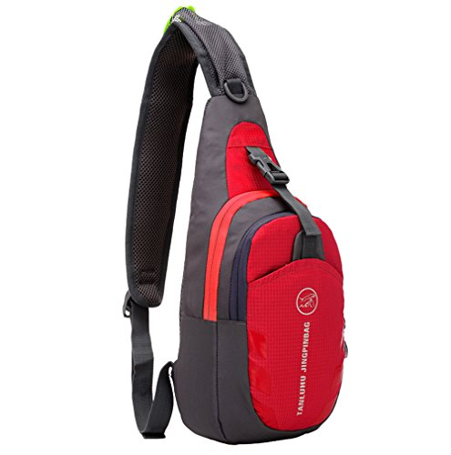 Zoom Sling Pack (Roll over image to zoom in Shoulder Backpack Casual Cross Body Bag Outdoor Sling Bag Chest Pack with Adjustable Shoulder Strap for Cycling Hiking Camping Travel and Men Women)