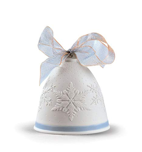 Lladro 2019 Porcelain Blue Christmas Bell #8446 by Lladro