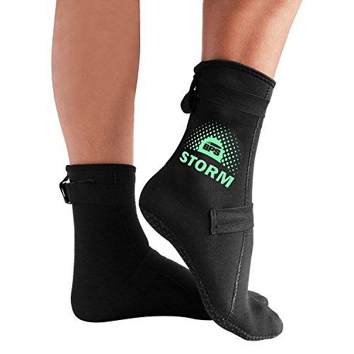 BPS Neoprene Socks - Improved Sole Grip - Black/Mint Green - XL