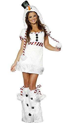 Sexy Penguin Costumes (Avide Women's Sexy Christmas Costumes Snow White Penguin Costume)