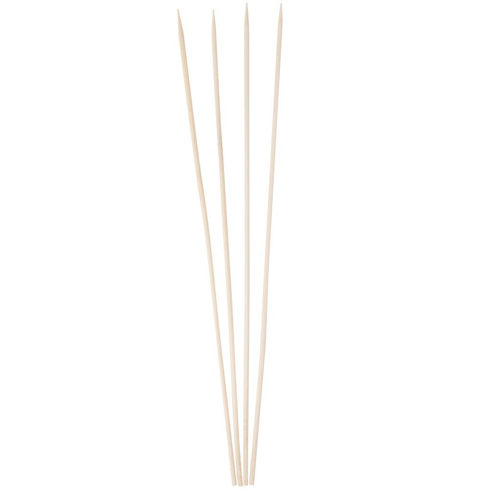 Kabob skewers PACK of 500 8 inch bamboo sticks made from 100 % natural bamboo - shish kabob skewers - (500) Blue Edge 500-KS