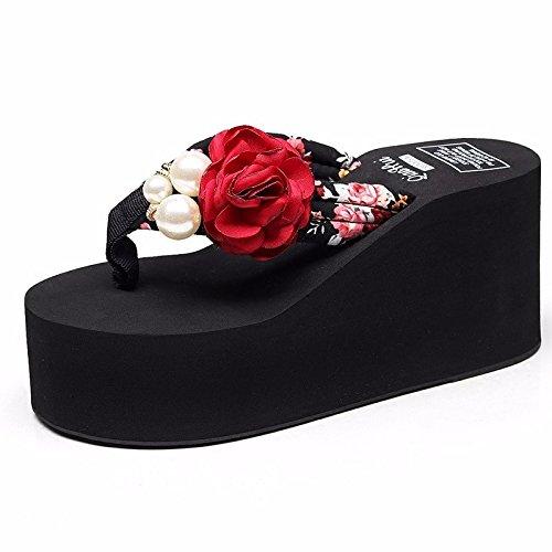 LiUXINDA-XZZ® - Corbata de verano Las zapatillas se llevan fuera del verano. rojo