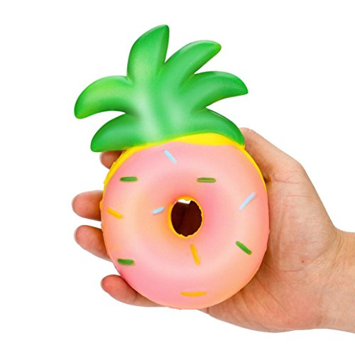 WM & MW Squishy Toys,Hot Sale Decompression Toys Slow Rising Squishy Pineapple Doughnut Toy Stress Toys for Kids